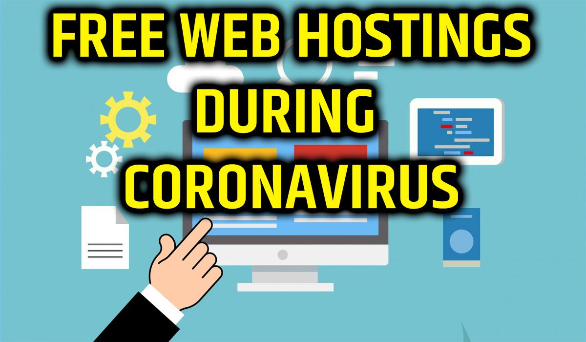 FREE WEB HOSTING DURING CORONAVIRUS