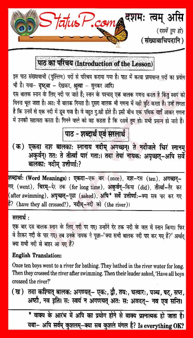 counting in sanskrit sentense