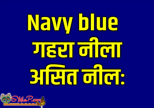 colors name in sanskrit navy blue