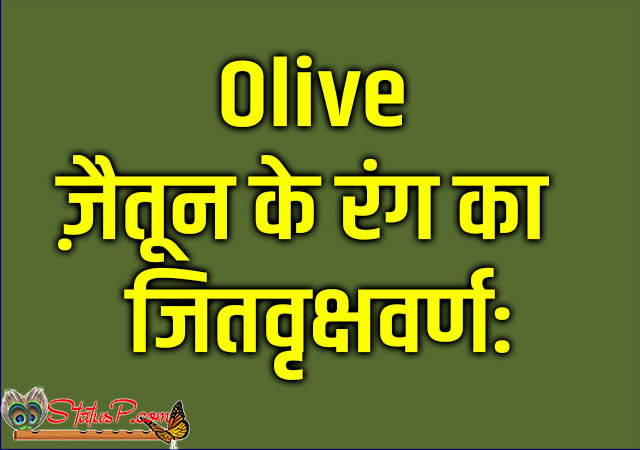 colors name in sanskrit olive