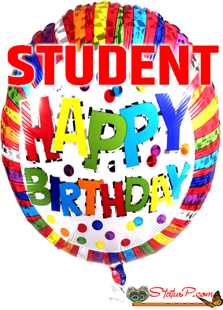 birthday wishes for student